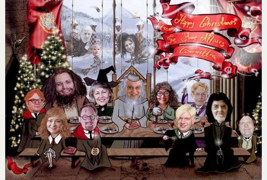 Keith Vaz stars as Dumbledore from Harry Potter in Christmas card 48908