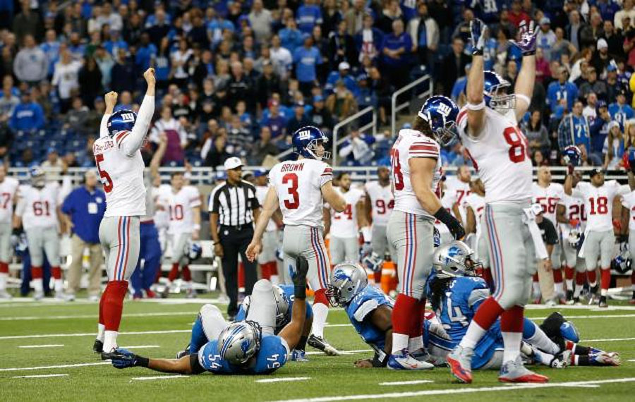 Giants gut out overtime win over Lions to play spoilers in Detroit 49008