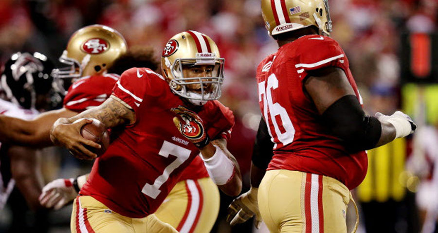 Kaepernick leads big second half as 49ers top Falcons in regular-season finale at Candlestick 49035