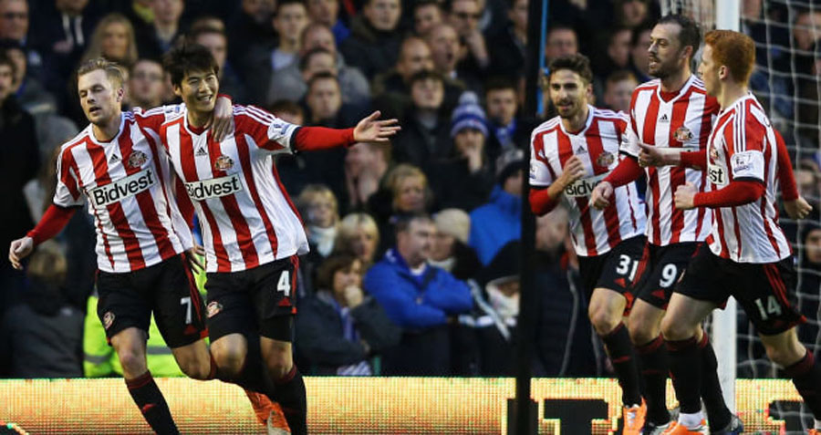 Sunderland win 1-0 away to 10-man Everton 49187