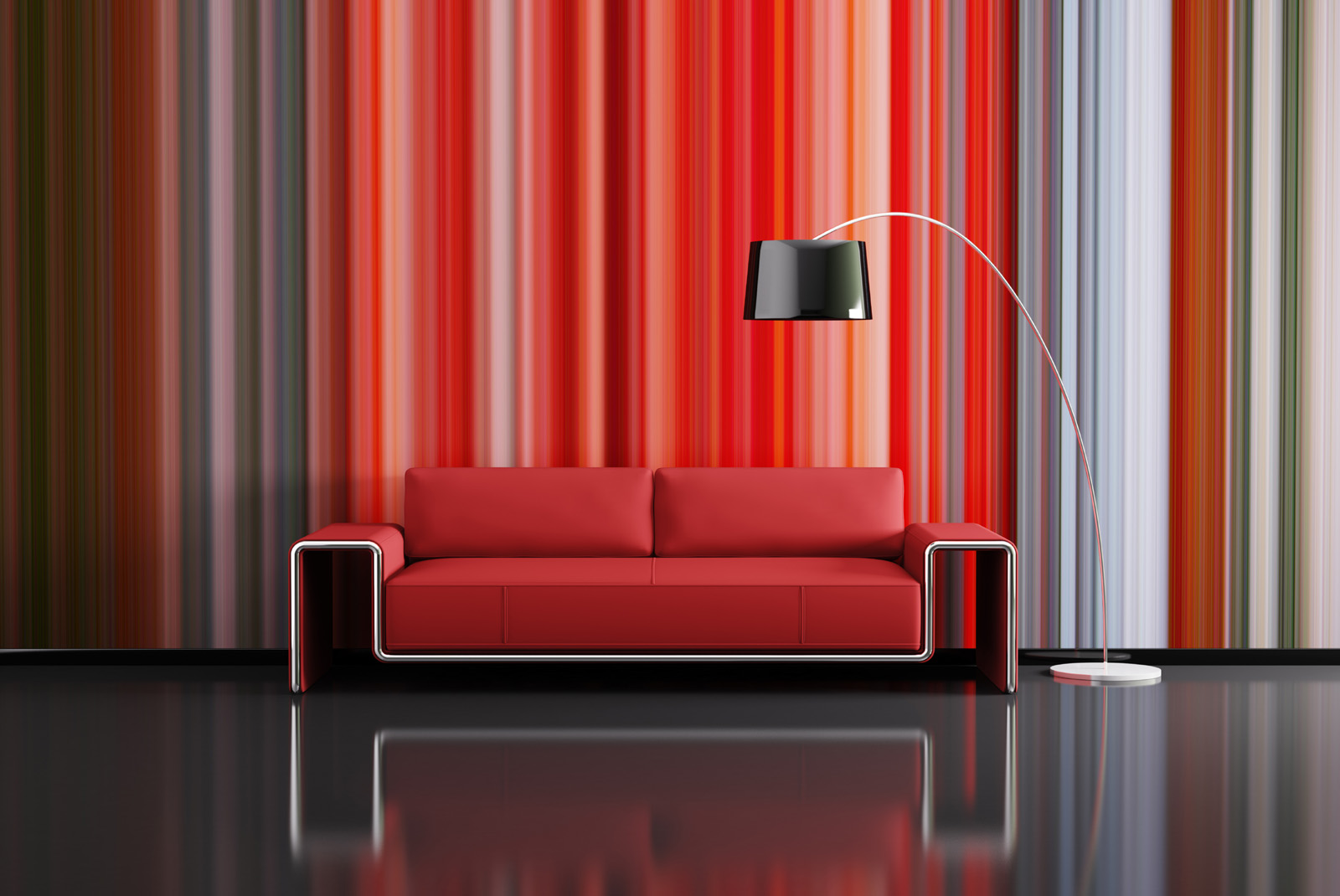 Curtains and sofa floor lamp 49440