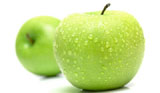 Green apple close-up 7933