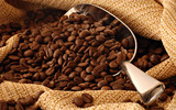 Coffee and coffee beans close-up 15297