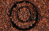 Coffee and coffee beans close-up 15726