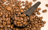 Coffee and coffee beans close-up 16022