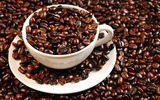 Coffee and coffee beans close-up 16199