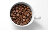 Coffee and coffee beans close-up 16610