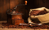 Coffee and coffee beans close-up 16784