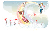 Romantic Valentine's Day illustration class 10323
