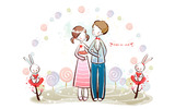 Romantic Valentine's Day illustration class 10924
