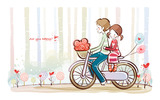 Romantic Valentine's Day illustration class 11111