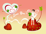 Romantic Valentine's Day illustration class 12252
