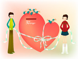 Romantic Valentine's Day illustration class 12508