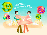 Romantic Valentine's Day illustration class 12675