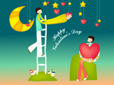 Romantic Valentine's Day illustration class 12917