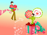 Romantic Valentine's Day illustration class 13156