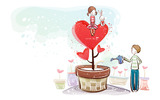Romantic Valentine's Day illustration class 8169
