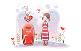 Romantic Valentine's Day illustration class 8837