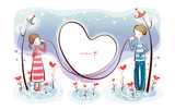 Romantic Valentine's Day illustration class 9055