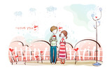 Romantic Valentine's Day illustration class 9271