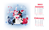 Calendar Year of the Rabbit 15365