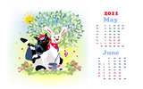 Calendar Year of the Rabbit 15550