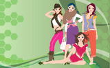Fashion women wallpaper 19937