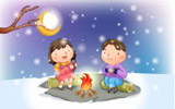 Happy childhood winter chapter illustrations 11568