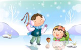 Happy childhood winter chapter illustrations 11743