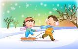 Happy childhood winter chapter illustrations 12087