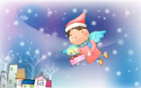 Happy childhood Christmas illustration articles 12682