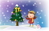 Happy childhood Christmas illustration articles 12764