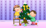 Happy childhood Christmas illustration articles 12844