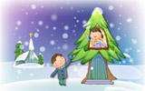 Happy childhood Christmas illustration articles 12924