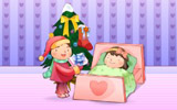 Happy childhood Christmas illustration articles 13004