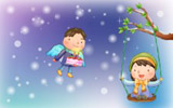 Happy childhood Christmas illustration articles 13163