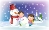 Happy childhood Christmas illustration articles 13321