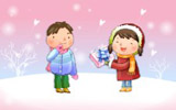 Happy childhood Christmas illustration articles 13558