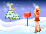 Christmas illustration wallpaper winter articles 16326