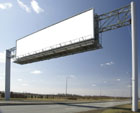 High-definition blank billboard 27500
