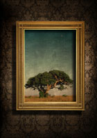 European-style frame with beautiful wallpaper 27512