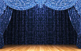 Blue curtain and stage material 27554
