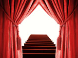 Red curtain and stair material 27578