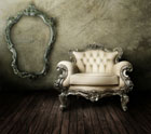 European gorgeous sofa with frame 27655