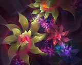 D fantasy abstract flowers 2097