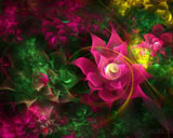 D fantasy abstract flowers 2760