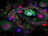 D fantasy abstract flowers 3084