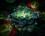 D fantasy abstract flowers 3702
