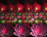 D fantasy abstract flowers 3850