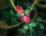 D fantasy abstract flowers 4875